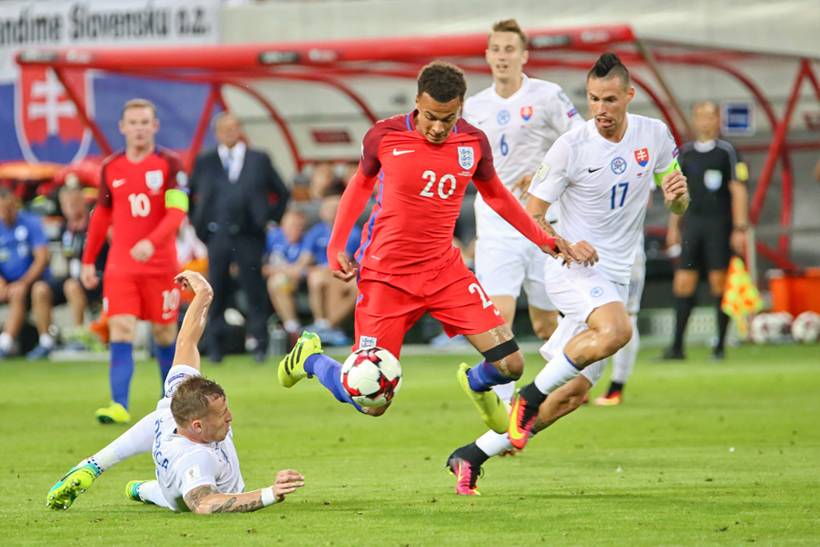 Futbal Slovensko - Anglicko kvalifiácia na MS 2018 Dele Alli