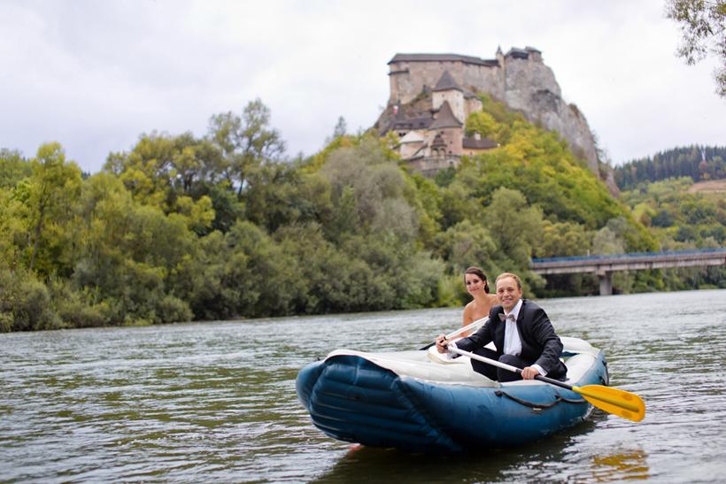Fotenie svadby pod Oravským hradom