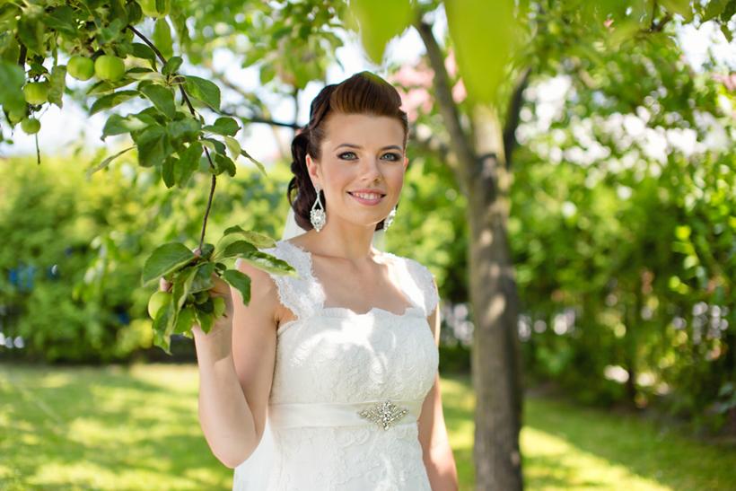 Fotenie svadobnych portetov nevesty